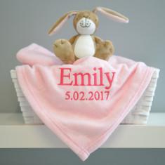 Personalised Baby's Pink Monogrammed Blanket