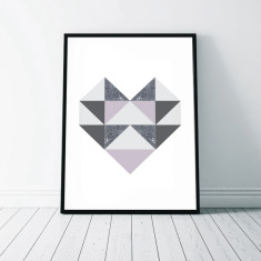 Geometric Heart Art Print (2 Designs)