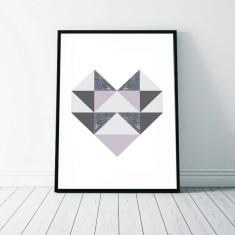 Geometric Heart Art Print (2 Designs)