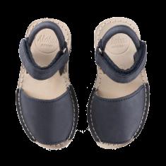 Alohas Keiki Navy Leather Sandals