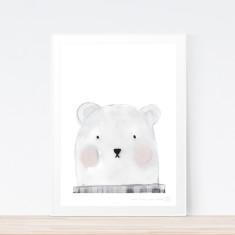 Bertie Bear art print