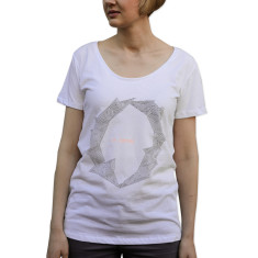 Women's la lumiere white organic cotton t-shirt