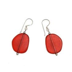 Wabi resin earring-petite