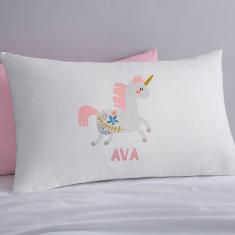 Scandi Unicorn Personalised Pillowcase
