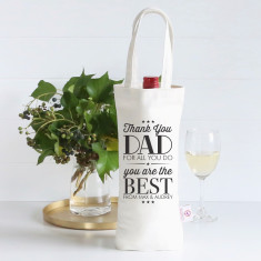 Thank you dad personalised wine bag