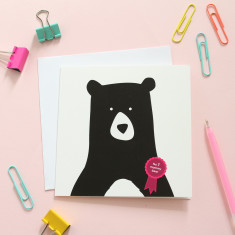 No.1 mummy bear card