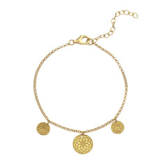 Frida bracelet in yellow gold