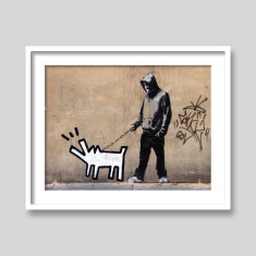 Walk Haring's Dog by Banksy art print