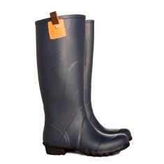 Walking boot navy rubber wellies