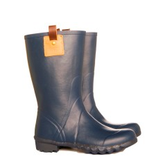 Walking boot navy mini rubber wellies