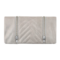 Alice leather wallet in light grey