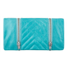 Alice leather wallet in pool blue