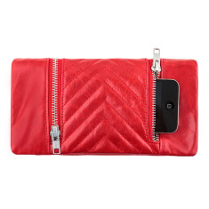 Alice leather wallet in red
