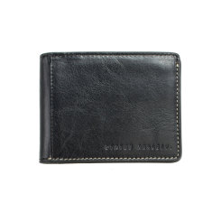 Ethan leather wallet in black