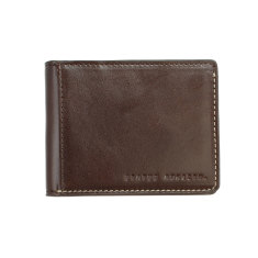 Ethan leather wallet in chocolate