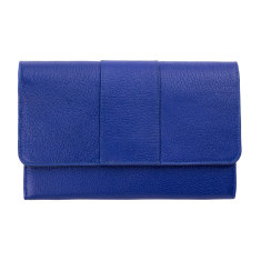 Ida leather wallet in blue
