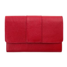 Ida leather wallet in red