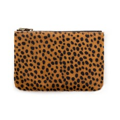 Maud leather wallet in cheetah