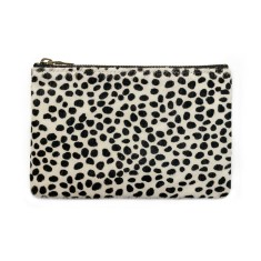 Maud leather wallet in snow cheetah