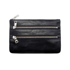 Molly leather wallet in black