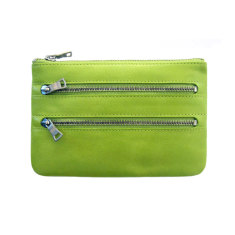 Molly leather wallet in lime