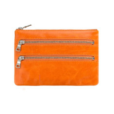 Molly leather wallet in orange