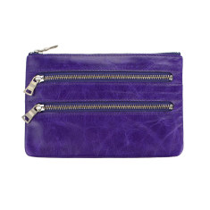 Molly leather wallet in purple