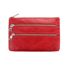 Molly leather wallet in red