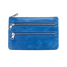 Molly leather wallet in royal blue