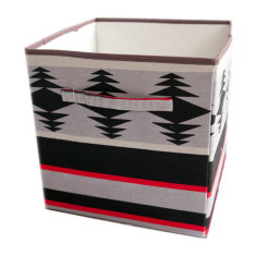 Wallpaper stripe storage boxes (set of 2)