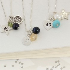 Celebrate 40th Birthday Necklace