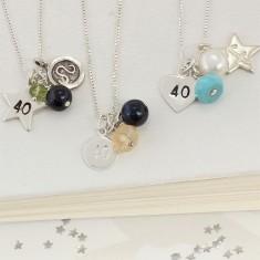 Celebrate 40th Birthday Necklace