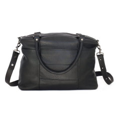 Wanderer leather handbag in black