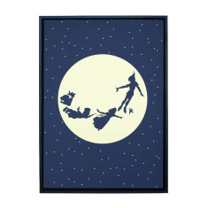 Flying to the moon framed print (Various Designs)