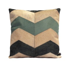 Grande loco cowhide cushion cover in wasabi