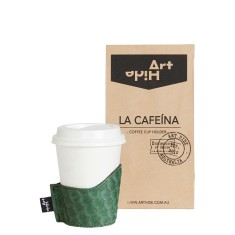 La Cafeina coffee cup holder in wasabi zeus