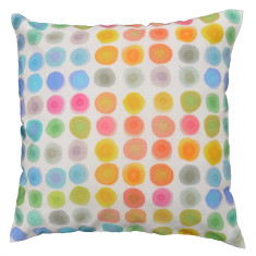 Watercolour spots cushion