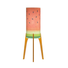 Phoebe A3 watermelon lamp with tri base
