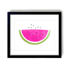 I love watermelon art print