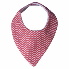 Watermelon chevron dribble bib
