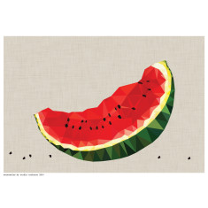 Geometric watermelon slice print