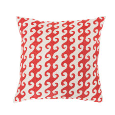 Colour me red hand loomed woollen cushion cover