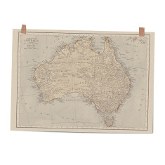 Map of Australia art print