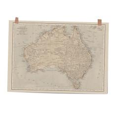 Map of Australia art print