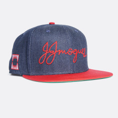 JJM denim flat peak cap
