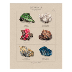 Minerals art print (various designs)