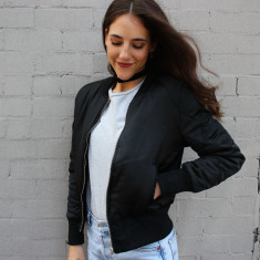 Robin bomber jacket in black