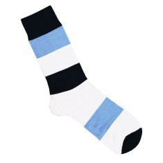 Lafitte navy, white and blue wool socks