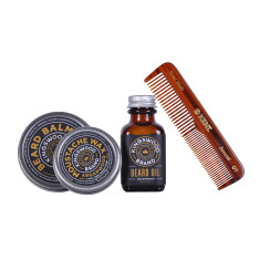 Beard and moustache care set