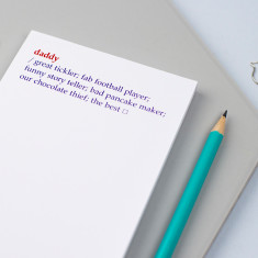 Personalised Daddy Dictionary Definition Notepad